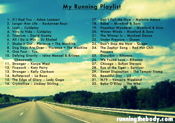 running the body playlist